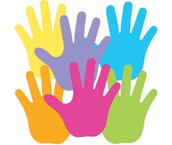 Pre-Cut Paper Hands - Coloured (Pack of 50)