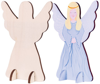 Wooden Standing Angel - Pack of 10
