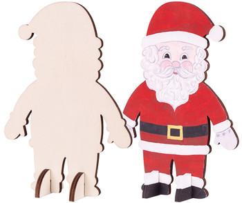 Wooden Standing Santa - Pack of 10