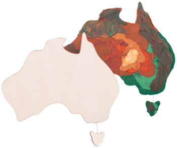 Wooden Australia - Pack of 10