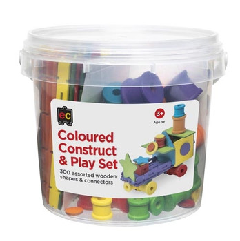 Construct and Play Set - Coloured (300 Pieces)
