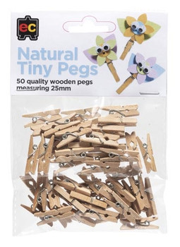Tiny Pegs - Natural (Pack of 50)