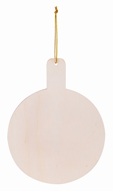 Wooden Baubles - Pack of 4
