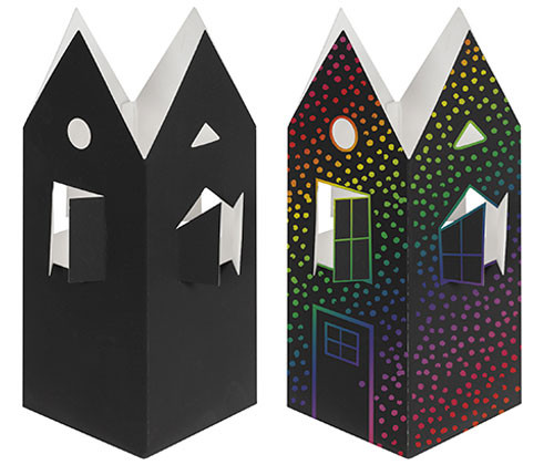 Scratch 3D Houses - Pack of 10