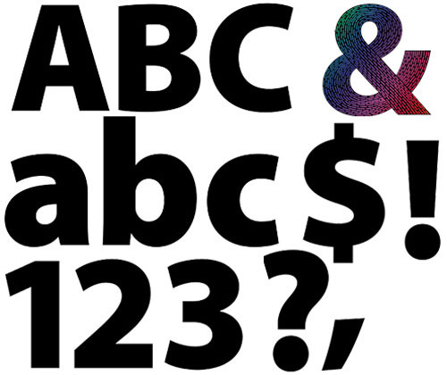 Scratch Adhesive Letters & Numbers