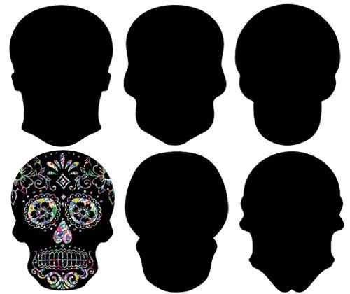 Scratch Skulls - Pack of 24