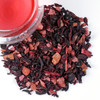 Our Royal Red Infusion is a delicious herbal blend of Hibiscus Petals, Blueberries, Elderberries, Raspberry and Strawberry pieces. Exotic papaya pieces and currants add a fruity-sweet base for this delightful fruit tea giving it a distinct flavor and aroma. Perfect hot or iced or mix it with your favorite champagne!  Ingredients: hibiscus petals, papaya pieces (papaya, sugar), currants (currants, sunflower oil), black currants, flavorings, elderberries, blueberries, raspberry pieces, strawberry pieces