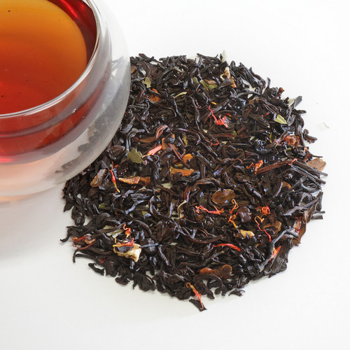 This hand-picked Sri Lankan black tea blended with dried apple and cinnamon will remind you of a fall walk through an apple orchard.
