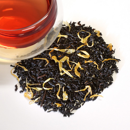 Mango Black Loose Leaf Tea Our bestselling Mango black tea blend combines the citrusy quality of fine Ceylon black tea with the flavor of perfectly ripened mangoes. Juicy texture, creamy-dry finish with great floral aromatics and candy sweetness.