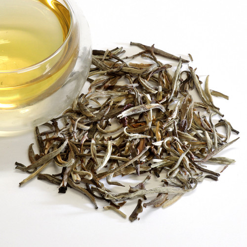 Jasmine Silver Needles Loose Leaf Tea Jasmine Silver Needle white tea is made up of young and elegant tea leaf buds with a whisper of jasmine aura. All the appeal and softly sweet nuances of a classic Silver Needle tea, enhanced with the graceful aroma of night-blooming jasmine flowers. Airy flavor, delicate mouthfeel and pleasantly dry finish. The quiet nature of this Jasmine Silver Needle white tea ensures it will make a gentle companion for your special moments.