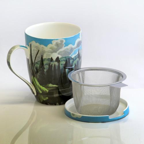 Harris Lake in Algonquin Park Tea Mug w/ Infuser and Lid
