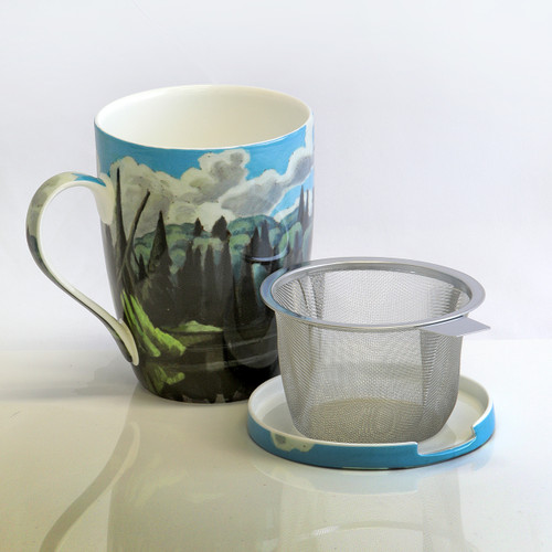 Harris Lake in Algonquin Park Tea Mug w/ Infuser and Lid