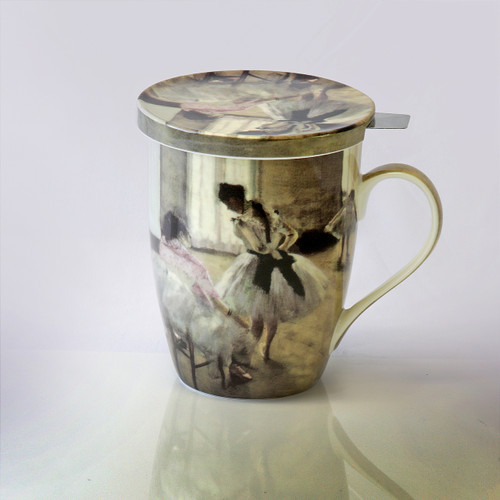 Degas The Dance Lesson Tea Mug w/ Infuser and Lid