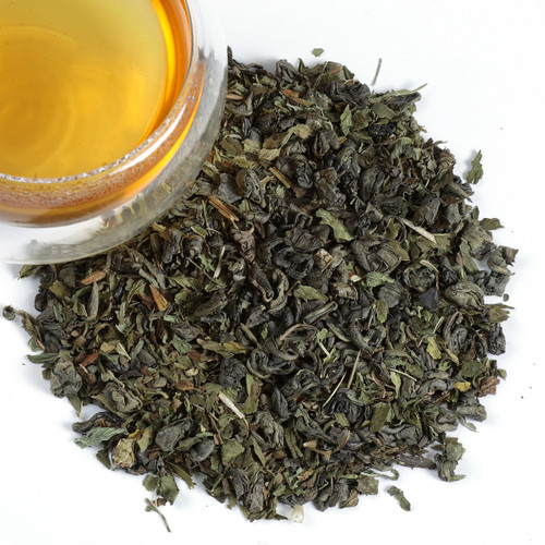 Our combination of green tea and mint make for a flavor of as lively as a newly  picked leaf. refreshing and aromatic. We combine Gunpowder Green Tea with  Spearmint from Oregon to produce a bright golden liquor that tones down the  bold tea base of the green tea. The methanol notes of the mint pair well with the spicy, roasted taste of the gunpowder loose leaf tea.  A sweet spearmint flavor that is refreshing, hot or iced, anytime of day.  1 tsp per cup steep at 180 for 2-3 minutes.
