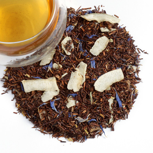 Soft Caribbean breezes inspire this fragrant tropical tea. Float away to paradises as you enjoy this rooibos tea flavored with an infusion of pineapple and coconut. Perfectly enjoyable hot or iced.