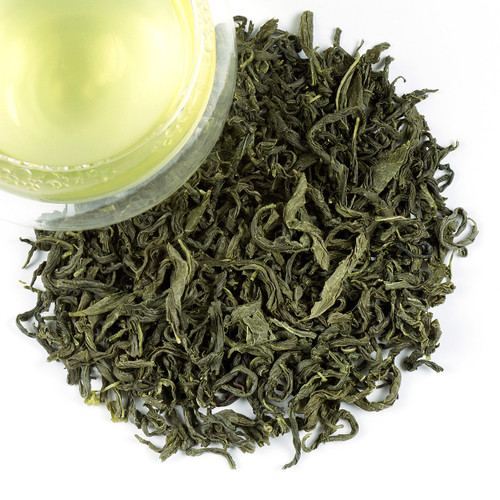 Most people associate green tea with China or Japan, but Korea has been producing some of the best green tea for over 2000 years. Featuring a lovely toasted corn aroma combined with a grassy edge our Korean Mystic Green tea has a light, elegantly sweet aroma, distinguished by its jade-green leaves and its color in the cup. A flavor very unique to Korean teas & a special treat for all green tea lovers.    1-2 tsp per cup steep at 170 degrees for 1-3 minutes.