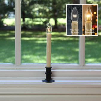 Matte Black Window Candle