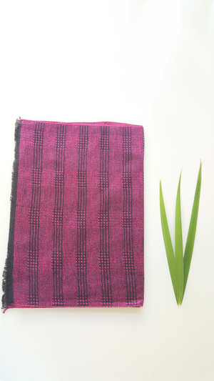 100% Bamboo Viscose Fleece Scarf - Magenta Check