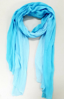Witjuti 100% Bamboo Viscose Printed Scarf -Light Blue