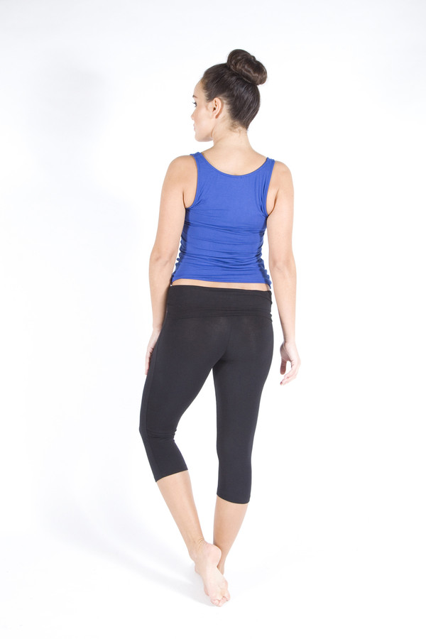 Roll top waistband perfect for muffin tops!