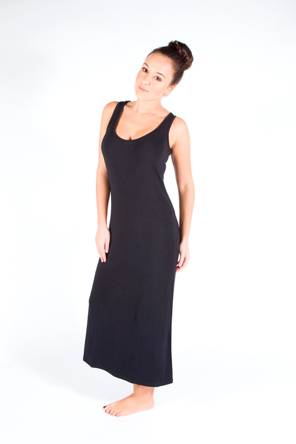 Black Bamboo Maxi dress also available in Charcoal