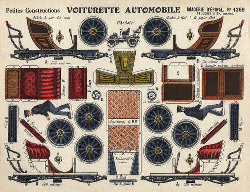 High-Resolution Vintage Image Collection of 750x PAPER TOY TEMPLATE SHEETS (Download)
