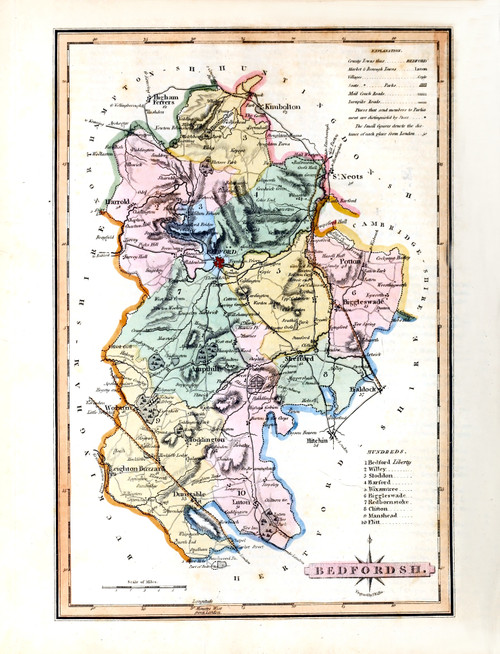 ANTIQUE ENGLAND / WALES COUNTY MAPS High Resolution Printmaking Image Collection