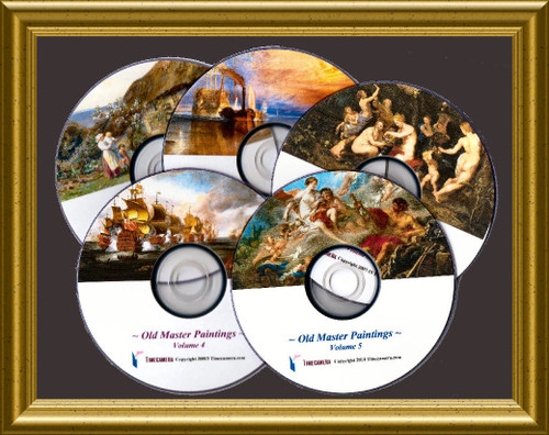 The 'Old Masters' Paintings 5-Volumes Package Deal!