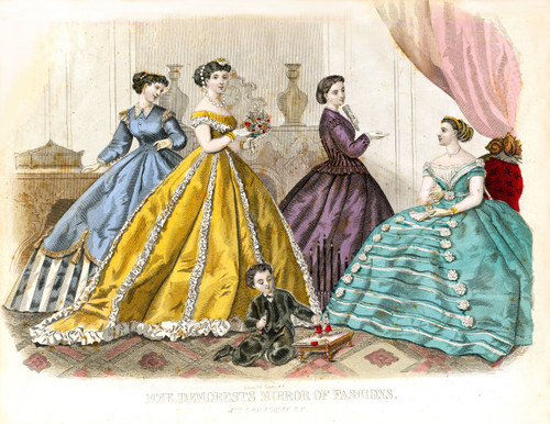 Make/Sell SUPER SIZED Victorian Fashion Prints - Restored V. Hi-Res. A3 Images