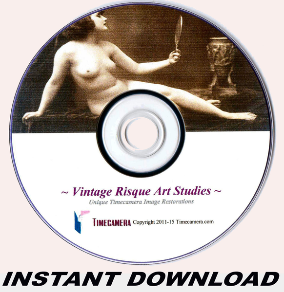VINTAGE RISQUE IMAGES COLLECTION (DOWNLOAD) - Make High-Res Photo-prints