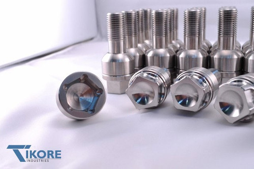 Porsche Titanium Two Piece Lug Bolt Set + Security