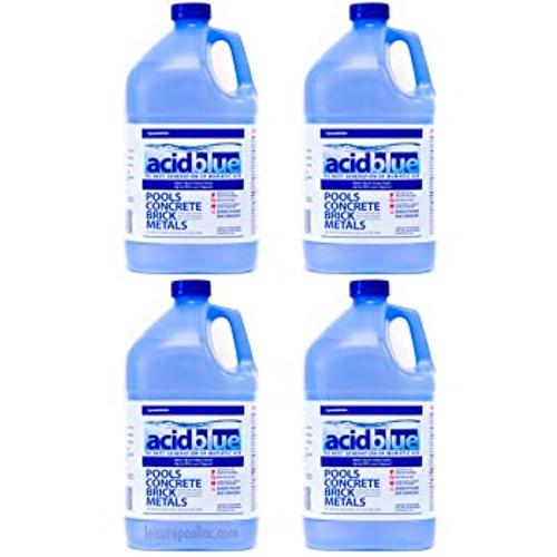 AcidBlue Non-Fuming Muriatic Acid - CASE OF (4) GALLONS
