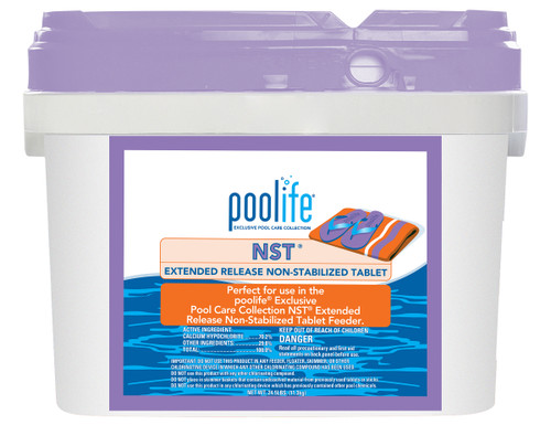 Chlorine Tab NST® CalHypo Poolife®  - 24.9lb