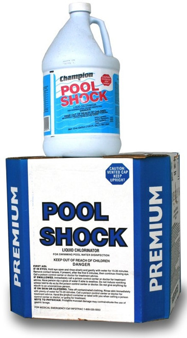 Liquid Chlorine Pool Shock 12.5% - CASE OF 4 GALLONS (PICK UP ONLY!)