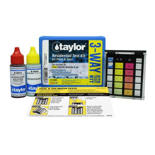 Taylor Basic Chlorine & pH Test Kit K-1000