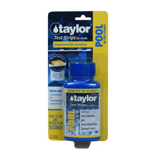 Taylor Pool Test Strips CHLORINE 4-Way - 50ct
