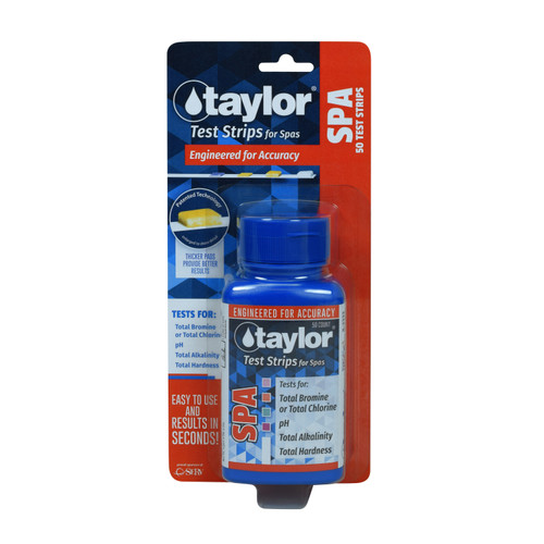 Taylor Spa Test Strips BROMINE 4-Way - 50ct