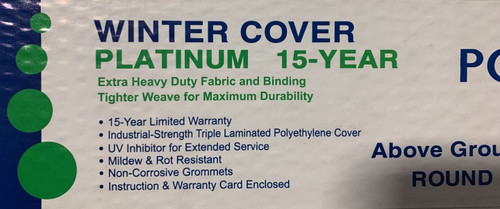 A/G 33' ROUND Winter Cover *Solid*