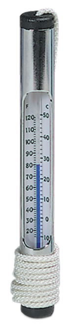 Deluxe Chrome Brass Thermometer #130