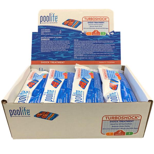 Chlorine Poolife® TurboShock® 78% CalHypo  - BOX of (12) 1lb bags