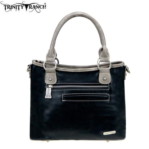Montana West Trinity Ranch Leather Satchel/Crossbody
