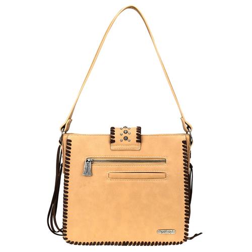 Montana West Trinity Ranch Leather/Leopard Print Bag