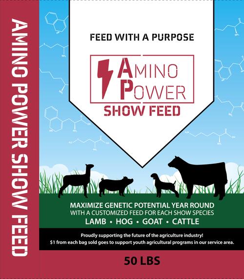 Amino Power Show Hog Mash 17% 50#