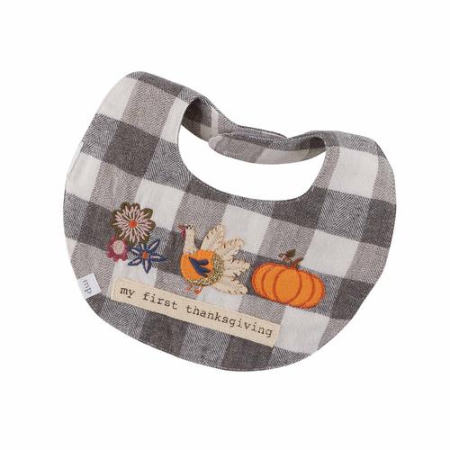Mud Pie - Infant - Dress & Bib Set - Gingham Halloween