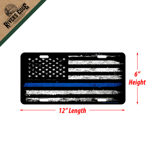 River's Edge - License Plate 12in x 6in - American Blue Line