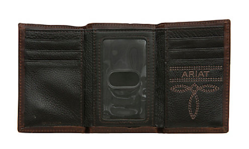 Ariat - Trifold - Small Shield Concho with Triple Stitching