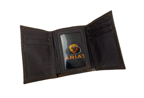 Ariat - Trifold - Oilskin/Cotton Brown with Embroidered Logo