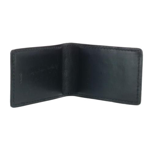 3D Brand - Money Clip - Leather Alligator Pattern - Black