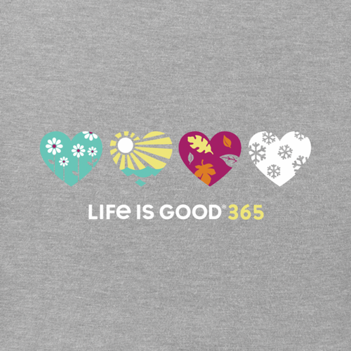 Life is Good - Woman's T-Shirt - Hearts Crusher Vee