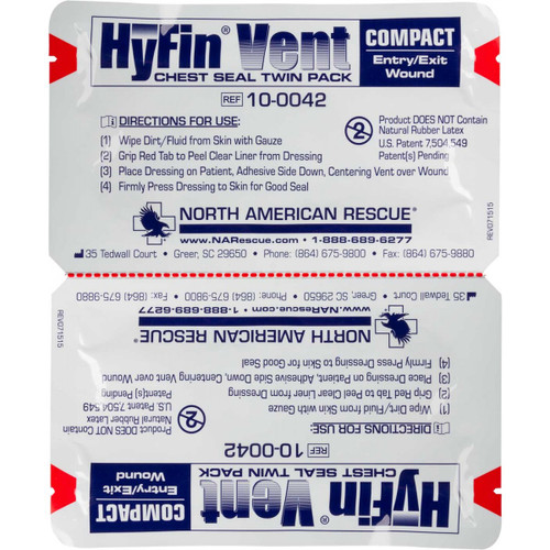 Hyfin Compact Vented Chest Seal Twin Pack